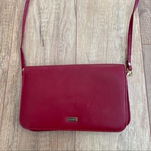 Buxton Leather Long Wallet Crossbody Bag